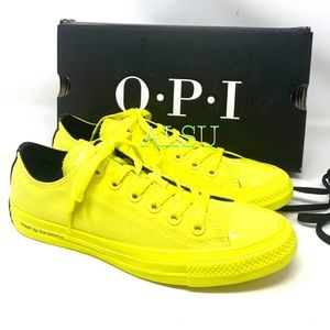 Converse x OPI Ctas Low Canvas Zink Yellow Women's